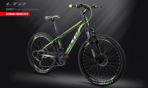Велосипед LTD Bandit 24 Disc Black-Green (2019)