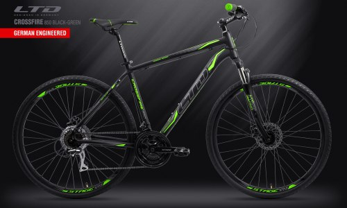 Велосипед LTD Crossfire 850 Black-Green (2019)