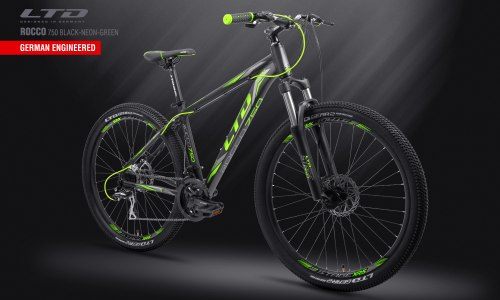 "Велосипед LTD Rocco 750 Black-Green 27.5"" (2019)"