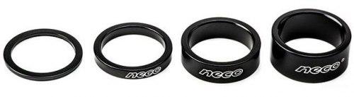 Проставочное кольцо Neco AS3602B Алюминий. 1-1/8; 2мм. Цвет чёрный.
