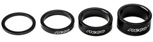 Проставочное кольцо Neco AS3602B Алюминий. 1-1/8; 5мм. Цвет чёрный.