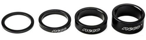 Проставочное кольцо Neco AS3602B Алюминий. 1-1/8; 15мм. Цвет чёрный.