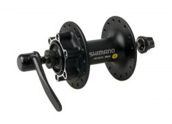 Втулка Shimano M475, 32 отв, 6-болт, QR, черн.