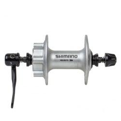 Втулка Shimano M475, 32 отв, 6-болт, QR, серебристая.