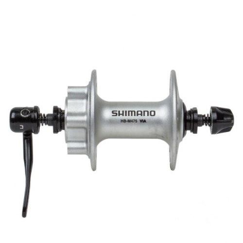 Втулка Shimano M475, 36 отв, 6-болт, QR, серебристая.