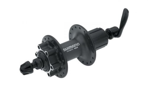 Втулка заднего колеса Shimano Alivio M475, 32 отв, 8/9 ск, 6-болт, QR 166мм, черн.