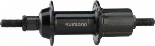 Втулка заднего колеса Shimano TX500, v-br, 36 отв, 8/9, гайки, old:135мм, ось 185мм, цв. черн.
