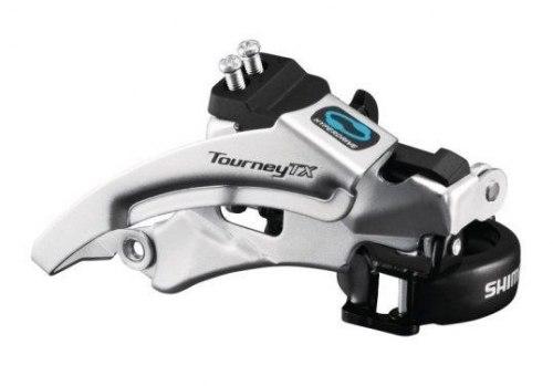Переключатель передний Shimano Tourney, TX800, ун. тяга, нижн. хомут, уг.:63-66