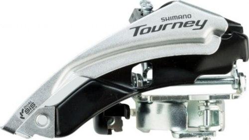 Переключатель передний Shimano Tourney, TY500, 6/7ск, ун. тяга, ун. хомут, уг.:66-69, для 48T