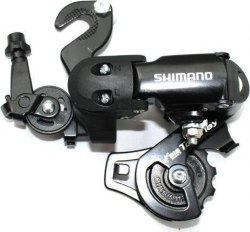 Переключатель задний Shimano Tourney, FT35, короткая лапка, 6/7 ск., крепление на ось