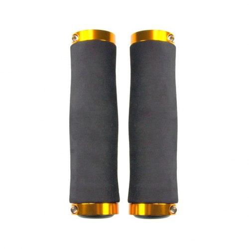 Грипсы Haiwey 145210 L-135 (чёрный/золотистый)