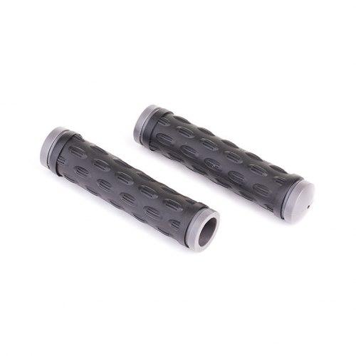 Грипсы HY-500-3 L-128 (чёрный/серый)
