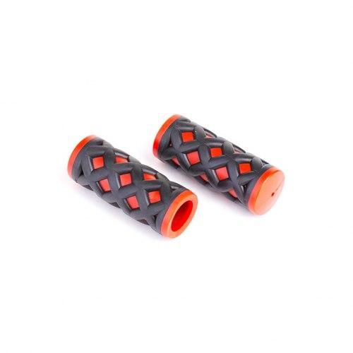 Грипсы HY-500-3G L-75 (чёрный/красный)