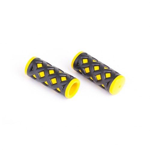 Грипсы HY-500-3G L-75 (чёрный/желтый)