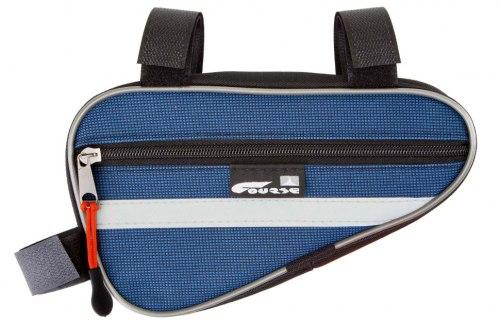 Велосумка Course МАСТЕР, под раму, малая, цвет: синий