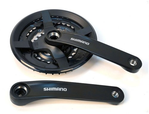 Система Shimano TY301, 175мм, Кв, 42/34/24, без защиты, черн, б/уп Длина шатуна: 175 мм.