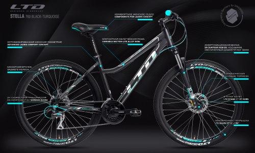 Велосипед LTD Stella 760 Black-Turquoise