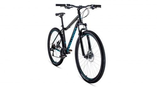 Велосипед Forward SPORTING 29 2.0 disc (черный/ бирюзовый)