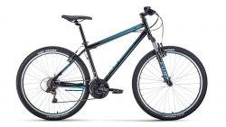 Велосипед Forward SPORTING 27,5 1.0 (черный/ бирюзовый)