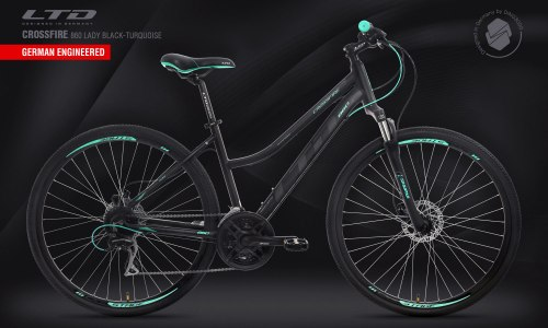 Велосипед LTD Crossfire 860 Lady Black-Turquoise (2020)