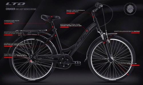 Велосипед LTD Cruiser 640 Lady Monochrome (2020)