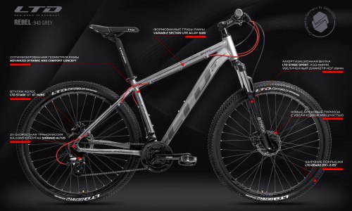 """Велосипед LTD Rebel 940 Grey 29"""" (2021)"""