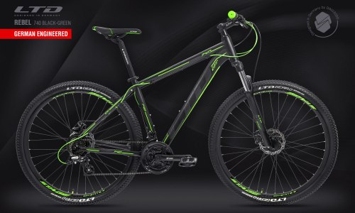 """Велосипед LTD Rebel 740 Black-Green 27.5"""" (2021)"""