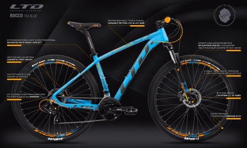 "Велосипед LTD Rocco 753 Blue 27.5"" (2021)"