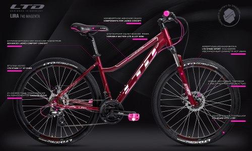 Велосипед LTD Lira 740 Magenta (2021)