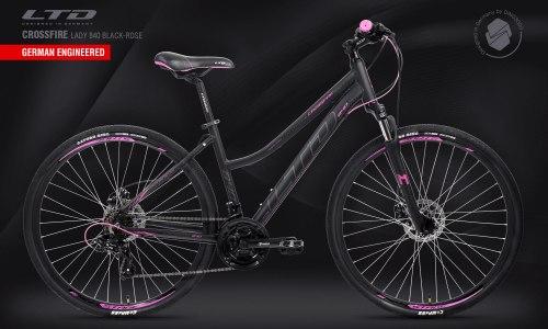 Велосипед LTD Crossfire Lady 840 Black-Rose (2021)