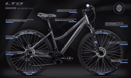 Велосипед LTD Crossfire Lady 840 Grey-Lilac (2021)