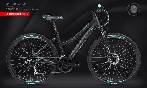 Велосипед LTD Crossfire Lady 860 Black-Mint (2021)