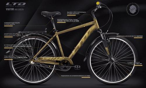 Велосипед LTD Viator 840 Military-Green (2021)
