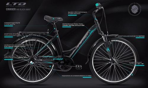 Велосипед LTD Cruiser 640 Black-Mint (2021)