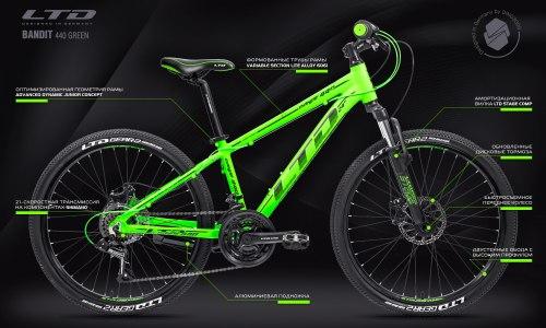 Велосипед LTD Bandit 440 Green (2021)