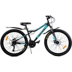 Велосипед Bibi Mars D 26 (чёрный/голубой)