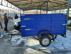 Прицеп MAG 202 В-500+500-2,2 (1,3 х 2,2 борт металл 500+500 мм, рессора Волга)