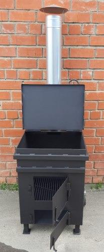 Печь для сжигания мусора Уголек 270 (4мм)