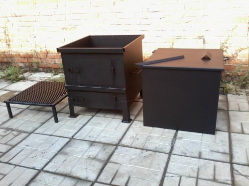 """Печь для сжигания садового мусора """"Уголек 450"""" разборная (сталь 3 мм). Nada"""