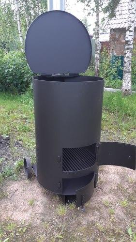 """Печь - бочка для сжигания мусора """"Золушка""""-2 особо прочная (4 мм)"""