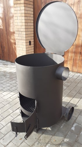 """Печь - бочка для сжигания мусора """"Смуглянка"""" 200БП"""