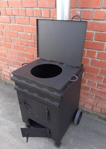 """Печь под казан с мусоросжигателем """"Уголек 270"""""""