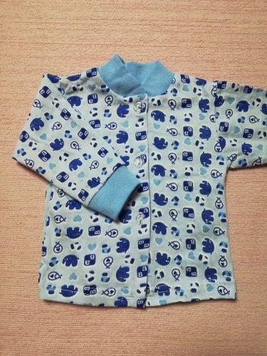 Кофта на пуговицах, с рождения до 3-х лет, кулир, размер 36 (0530-05)
