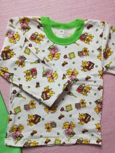 Пижама детская, начес, размер 56 (0744-04)