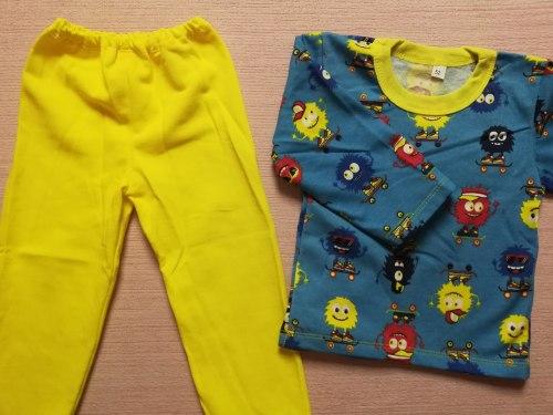 Пижама детская, начес, размер 52 (0744-08)