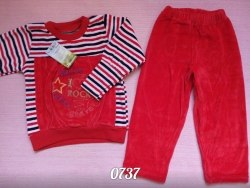 Комплект для девочки, велюр, вышивка (0737)