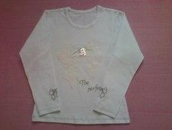 Блуза школьная, вышивка, фуликра гладкокрашенная (стрейч кулир) (0139)