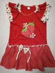 Платье с вышивкой, кулир, размер 56 (0802-03)