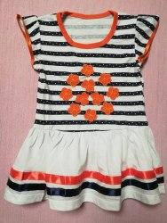 Платье комбинированное, полоска набивная, кулир, размер 56 (0132-03)