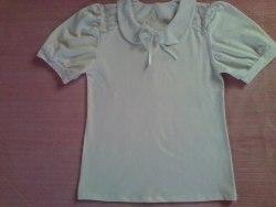 Блуза школьная, фуликра белая (0158)